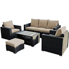 Outdoor Sofa Sets by Amazon Com Giantex 7pc Outdoor Patio Patio Sectional Furniture Pe