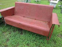 Retro Glider Sofa by Unrestored Metal 3seat Vintage Porch Gliders Vintage Metal