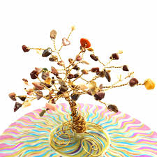 tree of with healing crystals manifest for your wishes