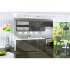 dusine cuisine gris graphite laquée infinity 7 éléments 2m40 pas