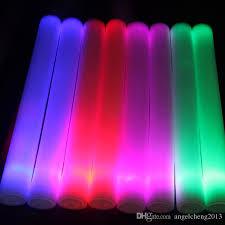 4 40cm led foam sticks glow sticks party props sponge stick