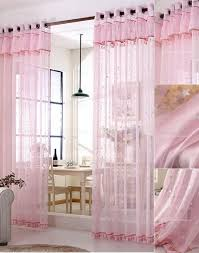 Shimmer Sheer Curtains Pink Sheer Curtains Star Pattern Kids Room Curtains