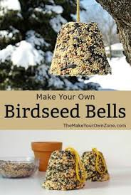 how to make a birdseed bell bird bird feeder and gardens