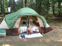 latest home 8 man tent with queen size air mattress u0026 lots of
