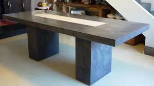 D Coratif Table A Manger Table Manger Industrielle B Ton Salle A Beton Cire Newsindo Co