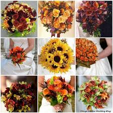fall bridal bouquets simple fall wedding flowers kantora info