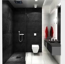 badezimmer klein badezimmer kleine design in schwarz mosaik wandfliesen