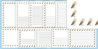 early years owl writing frames and worksheets early page 1