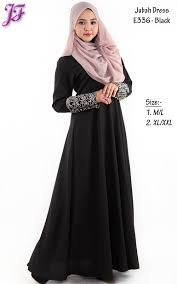 jubah moden restock of jubah dress with lace embroidery e336 jf fashion
