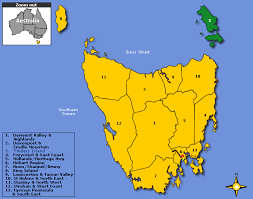 map of tasmania australia accommodation tasmania australia book tasmanian hotel