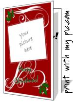 christmas cards to print add your own photo printable christmas