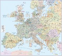 European Country Map by Central Europe Political Country Vector Map With Roads Fully