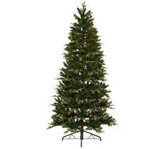 corner christmas tree bethlehem lights prelit green noble corner christmas tree qvc