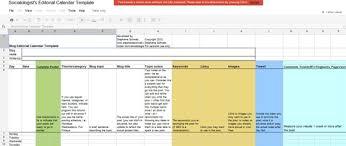 Editorial Calendar Template Excel How To Create A Successful Editorial Calendar Plugins Tips