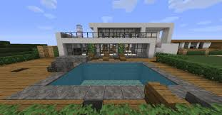 modern mansions and some boats minecraft project