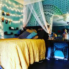 String Lights In Bedroom by Room Style Bed With Canopy And String Lights And Wall