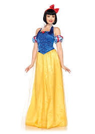 princess costumes for halloween blue yellow 3 piece princess snow white costume amiclubwear