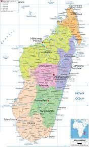 Costa Rica Airports Map Large Detailed Administrative Map Of Madagascar With All Cities