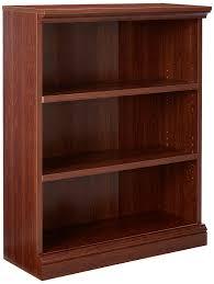 sauder cherry bookcase amazon com sauder camden county 3 shelf bookcase planked cherry