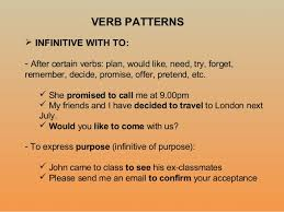 verb pattern of like verb patterns 8 c revision and more