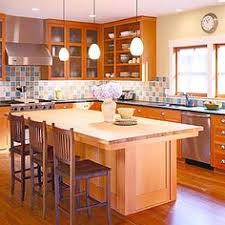Craftsman Kitchen Cabinets Bungalow Color In The Kitchen Craftsman Kitchen Butcher Blocks