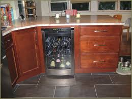 furniture wine cabinets with cooler in black for wooden storages