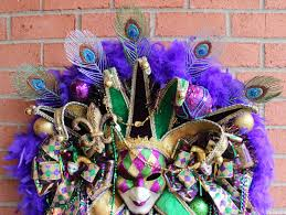 peacock mardi gras mask girl s wreaths where the difference is in the details