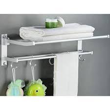 Bathroom Shelves With Towel Rack Matt Aluminum Bath Towel Shelves Towel Bar 24 Inch Wih 5