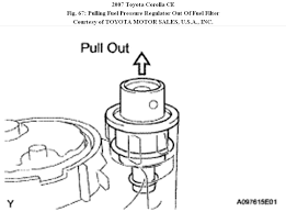 2005 toyota corolla fuel filter need information how to change a fuel