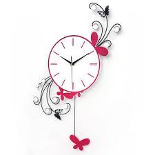 bird wall clock art clock butterfly b