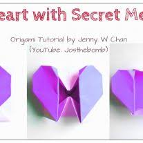 origami diy origami heart box u0026 envelope with secret message pop