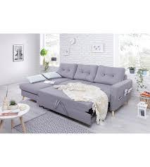 canape d angle gauche canapé d angle gauche convertible tissu gris clair stockholm