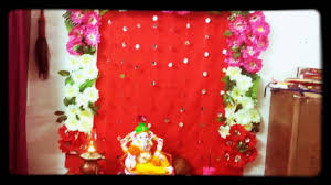 Decoration Things For Home by Ganpati Decoration At Home Ganpati Bappa Morya Youtube