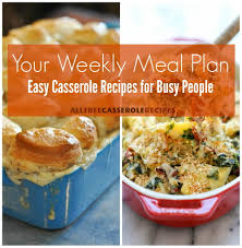 plan42 your weekly meal plan 42 easy casserole recipes for busy people