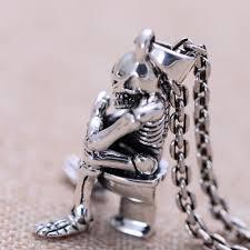 skull link necklace images Men 39 s sterling silver skull thinker necklace jpg