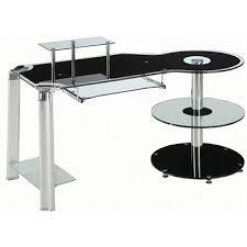 Leda Computer Desk Innovex Fusion Black Glass Desk Sam U0027s Club