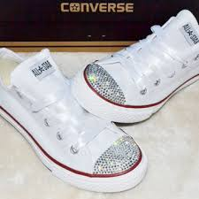 wedding shoes converse womens white converse swarovski wedding converse bling wedding