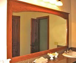 Oak Bathroom Mirrors - mirror design ideas vanity wall oak bathroom mirror medicine with