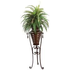 6 ft high end realistic silk boston fern plant