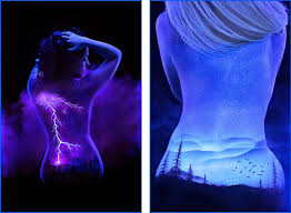 Black Light Body Paint Design Stack A Blog About Art Design And Architecture Black