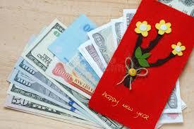 tet envelopes tet envelope lucky money stock photo image of