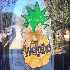 Pineapple Home Decor by Summer Door Hanger Pineapple Wooden Door Hanger Wreath