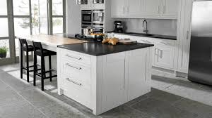White Kitchen Cabinets With Hardwood Floors by White And Grey Kitchen Tjihome