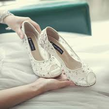 white lace wedding shoes bling bling flowers wedding shoes pretty stunning heeled bridal