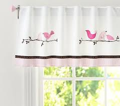 Pottery Barn Kids Window Treatments - curtains pottery barn kids penelope valance in pink and green