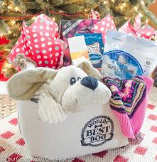 pet gift baskets easy to make dog christmas gift basket four generations one roof