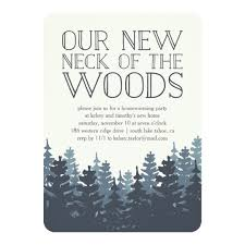 housewarming party invitations winter forest housewarming party invitation zazzle