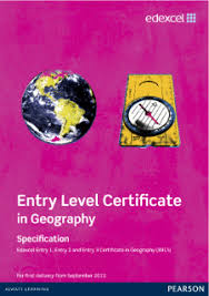 edexcel entry level certificate geography pearson qualifications