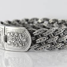 solid sterling silver bracelet images Victorian flowers men bracelet vy jewelry jpg