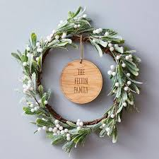 mistletoe personalised christmas wreath by sophia victoria joy